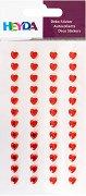 Декоративни стикери - Червени сърца - Комплект от 48 броя