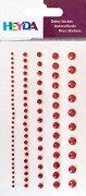 Декоративни стикери - Червени камъчета - Комплект от 99 броя