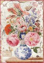 Декупажна хартия - Ваза с цветя - Формат А4