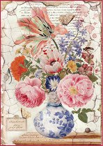 Декупажна хартия - Ваза с цветя