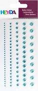Декоративни стикери - Тюркоазени камъчета - Комплект от 99 броя