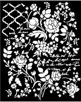 Шаблон - Флорална фантазия - Размери 20 х 25 сm