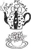 Силиконови печати - Време за чай - печат