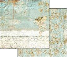 Хартия за скрапбукинг - Фея и надписи - Размери 30.5 х 30.5 cm