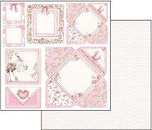 Хартия за скрапбукинг - Картичка за момиченце