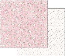 Хартия за скрапбукинг - Розов флорален гоблен - Размери 30.5 х 30.5 cm