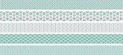 Декоративно мини тиксо - Светло зелени мотиви - Комплект от 5 броя и диспенсър