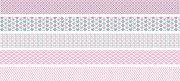 Декоративно мини тиксо - Светло розово - Комплект от 5 броя и диспенсър