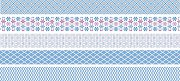 Декоративно мини тиксо - Светло синьо - Комплект от 5 броя и диспенсър