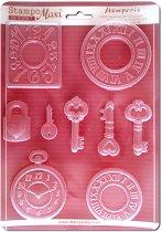 3D Форма - Часовници и ключове - Размери 21 x 29.7 cm