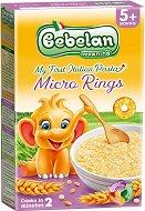 Bebelan - Паста Микро Кръгчета - Опаковка от 350 g за бебета над 5 месеца - чаша