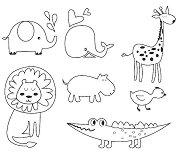 Гумени печати - Животни - Комплект от 7 броя -
