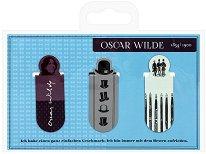 Мини магнитни разделители за книга - Оскар Уайлд - Комплект от 3 броя -