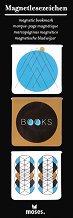 Мини магнитни разделители за книга - Етно - Комплект от 3 броя -
