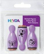 Гумени печати - Пеперуда, калинка и пчела