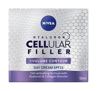"Nivea Hyaluron Cellular Filler + Volume Contour Day Cream - SPF 15 - Дневен крем за лице против бръчки от серията ""Cellular Filler + Volume Contour"" - крем"