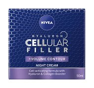 "Nivea Hyaluron Cellular Filler + Volume Contour Night Cream - Нощен крем за лице против бръчки от серията ""Hyaluron Cellular Filler"" - гел"