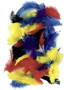 Цветни декоративни пера - Опаковка от 2 g