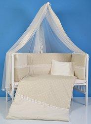 Спален комплект за бебешко креватче - Звезди - 3 части -