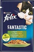 Felix Fantastic with Rabbit in Jelly - Заешко месо в желе за котки в зряла възраст - пауч 100 g -