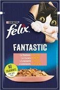 Felix Fantastic with Salmon in Jelly - Сьомга в желе за котки в зряла възраст - пауч 100 g -