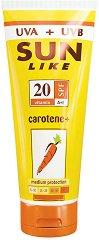 Sun Like Body Lotion Carotene+ - Слънцезащитен лосион за тяло с бета-каротин и витамини - спирала