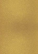 Брокатен картон - Тъмно златист - Формат А4
