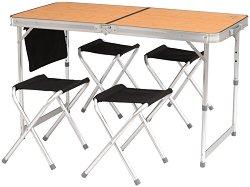 Къмпинг маса с 4 стола
