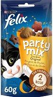 Felix Party Mix Original Mix - Лакомство с птиче месо за котки в зряла възраст - опаковка от 60 g - продукт