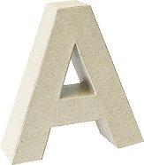 Буква от папиемаше - A - Предмет за декориране с височина 17.5 cm