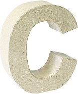Буква от папиемаше - C - Предмет за декориране с височина 17.5 cm