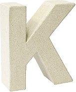Буква от папиемаше - K - Предмет за декориране с височина 17.5 cm