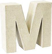 Буква от папиемаше - M - Предмет за декориране с височина 17.5 cm