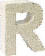 Буква от папиемаше - R - Предмет за декориране с височина 17.5 cm