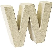 Буква от папиемаше - W