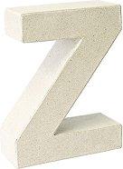 Буква от папиемаше - Z - Предмет за декориране с височина 17.5 cm