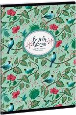 Ученическа тетрадка - Chirping Garden : Формат А5 с широки редове - 40 листа -