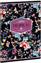 Ученическа тетрадка - Tropical Night : Формат А5 с широки редове - 40 листа -