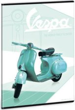 Ученическа тетрадка - Vespa : Формат А5 с широки редове - 40 листа -