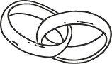 Гумен печат - Пръстени - Размери 3.5 х 2 cm
