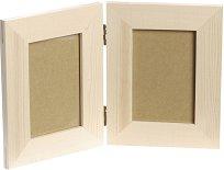 Дървена рамка за 2 снимки - Предмет за декориране