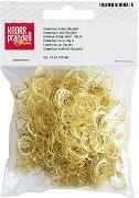 Къдрава коса за кукли - златиста - Опаковка от 20 g