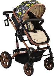 Комбинирана бебешка количка - Pavo - С 4 колела -
