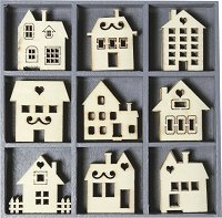 Дървени фигурки - Къщички