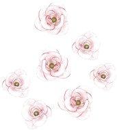 Декоративни пластмасови цветчета - Рози - Комплект от 24 броя