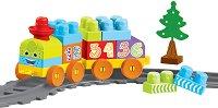 Детски конструктор - Усмихнатото влакче - Комплект от 36 или 58 части - творчески комплект