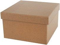 Квадратна кутия от папиемаше - Предмет за декориране с размери 26.5 х 17 cm