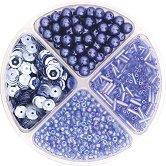 Мъниста за декориране - светло сини - Опаковка от 30 g