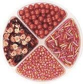 Мъниста за декориране - червени - Опаковка от 30 g