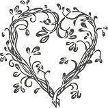 Гумен печат - Сърце